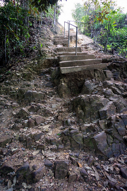 Panorama Hill, Sungai Lembing - broken stairs