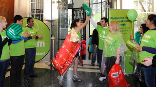 London Marathon Oxfam runners welcomed back to the British Academy by Oxfam volunteers. | by Oxfam Events