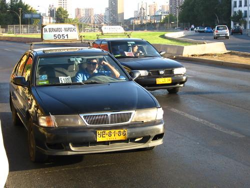 Nissan Sentra II Taxi Colectivo, Santiago (2010 01 22)