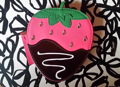Strawberry Coin Purse Front Exterior, Kate Spade