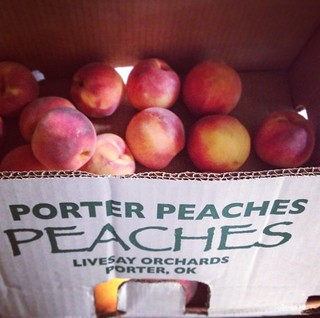 Porter peaches. Also known as the only thing I'll be eating this week.