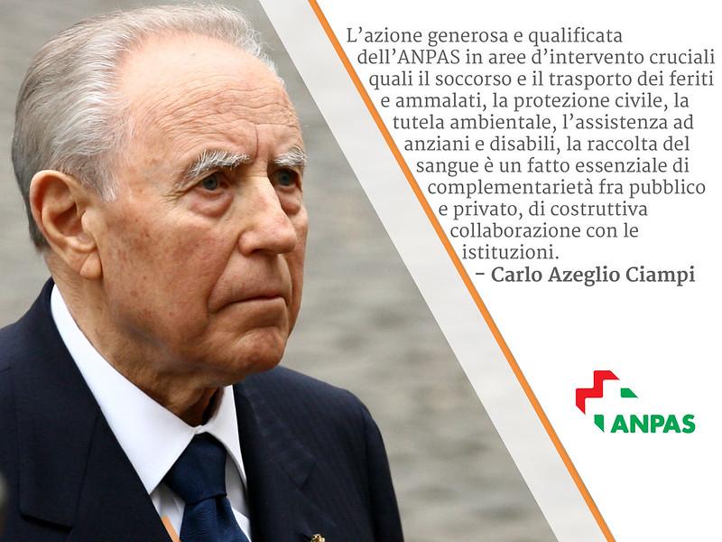Anpas ricorda Carlo Azeglio Ciampi