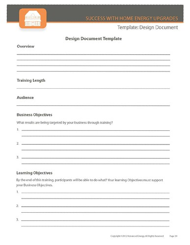 Design Document Template | by Home Energy Magazine