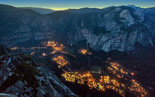 Yosemite Valley as the Lights Come On | by PrevailingConditions