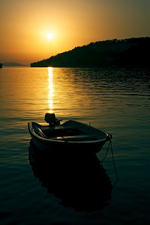 boat and sunset (on Explore!) | by Gena Golovskoy