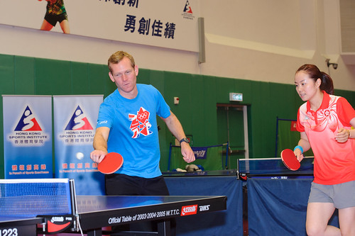 FCO Minister Jeremy Browne meets with Hong Kong Olympic squads in table tennis and badminton at HKSI | by UK in Hong Kong