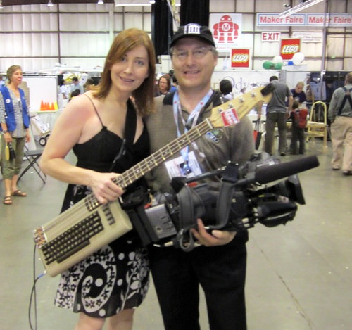 Jeri Ellsworth and me at 2012 Maker Faire | by mikeht220