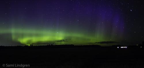 Northern lights at Mallusjoki