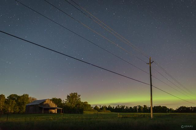 Aurora Borealis - Highway 38 Roadside