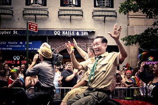 New York City Pride Parade 2012 - Heritage of Pride March - George Takei Flashes a Vulcan Salute | by Vivienne Gucwa