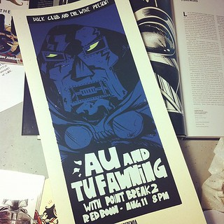 Oh hey first screen printed poster drawn by moi, how you doing? | by mrchrishunt