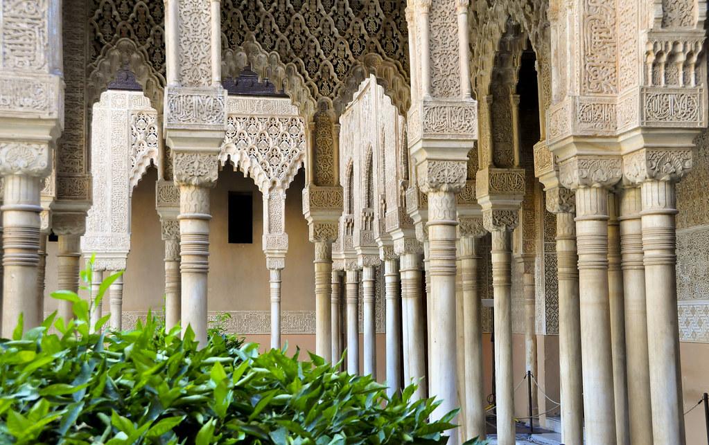 La Alhambra, patio de los Leones
