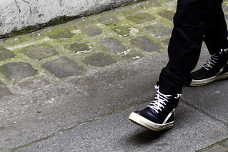 2012_06 Tuukka Laurila Paris Mens Fashion Week Street Style - Rick Owens High Top Sneakers on Granite2 | by tuukka13