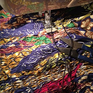 Working on something very time consuming, hope it works out. Yikes! #sewing Fabric #DIY | by Kazz the Spazz