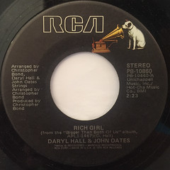 HALL & OATES:RICH GIRL(LABEL SIDE-A)
