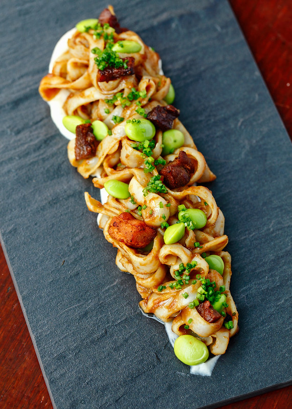 Cuttlefish Tagliatelle with Pork Belly