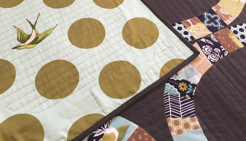 Modern Meadow Single Girl quilt back