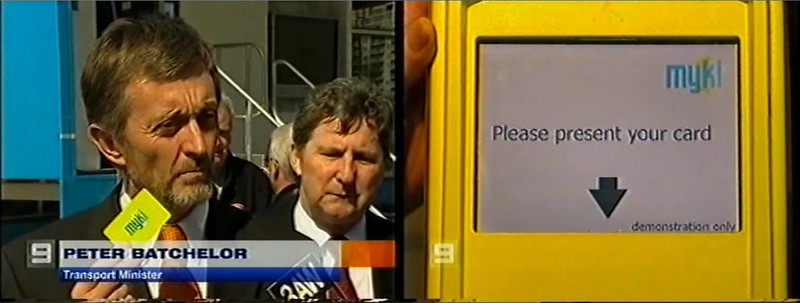Myki launch September 2006 (Channel 9)