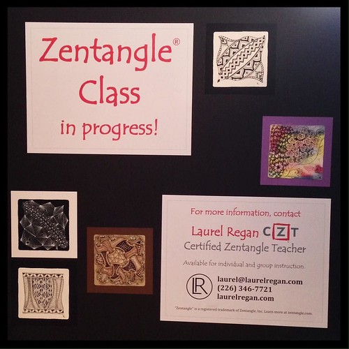 Laurel Regan, CZT - Window display board