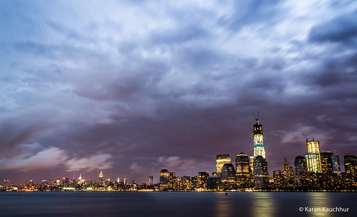 Brooklyn and Manhattan Skyline as seen from Liberty SP | by Karanmohan
