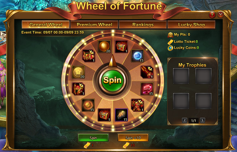 LOA2 Wheel of Fortune - general wheel
