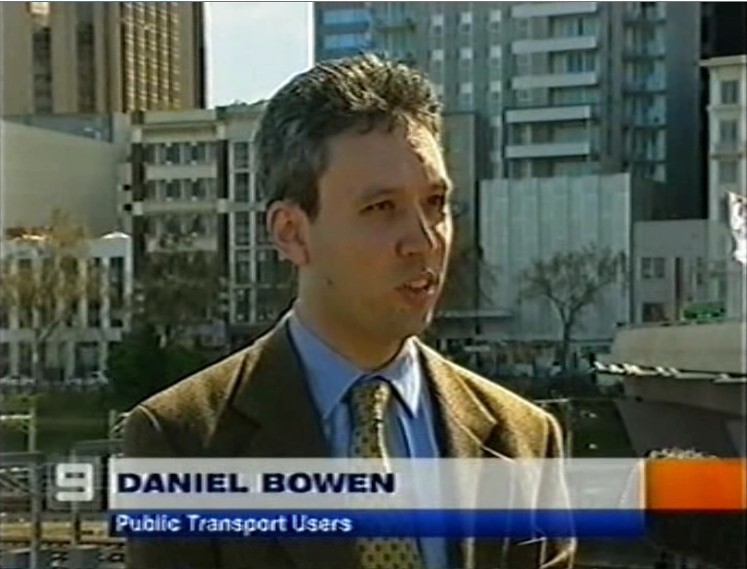 Commenting for PTUA at the Myki launch, September 2006