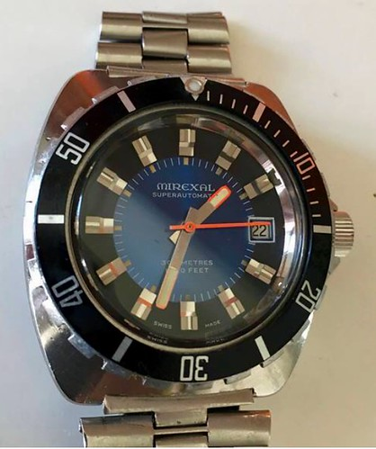 4ef1325539e Este Diver dos anos 70 um Mirexal 300 mts. Assim que chegar colocarei  minhas impressões sobre!