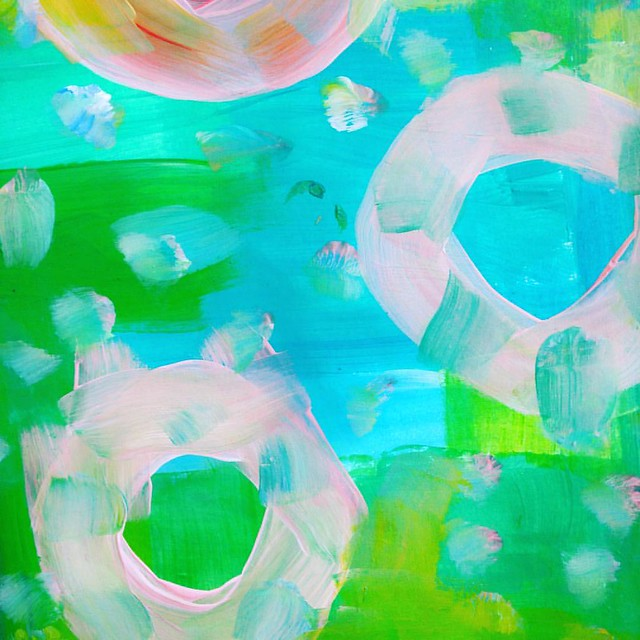 Floating... painted by iHanna #instagram #mixedmedia