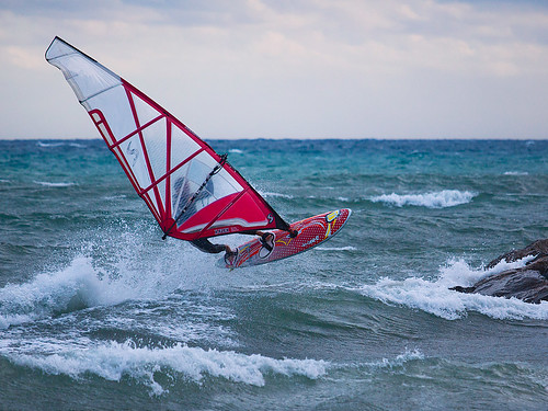 Windsurf on air