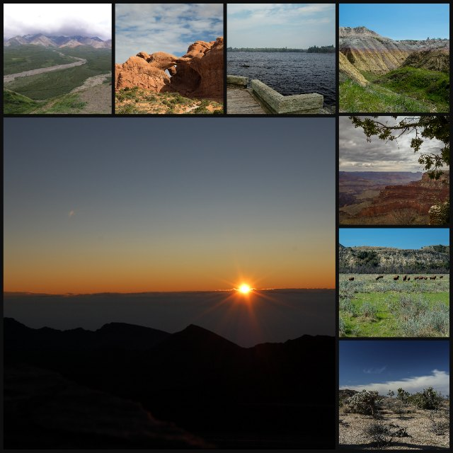 national parks collage
