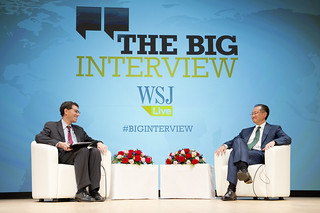 World Bank Group President Jim Yong Kim participates in the Wall Street Journal, The Big Interview - What Will It Take? Restoring Growth, Spreading Prosperity in Times of Crisis | by World Bank Photo Collection