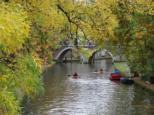 Paddling Down the Oudegracht