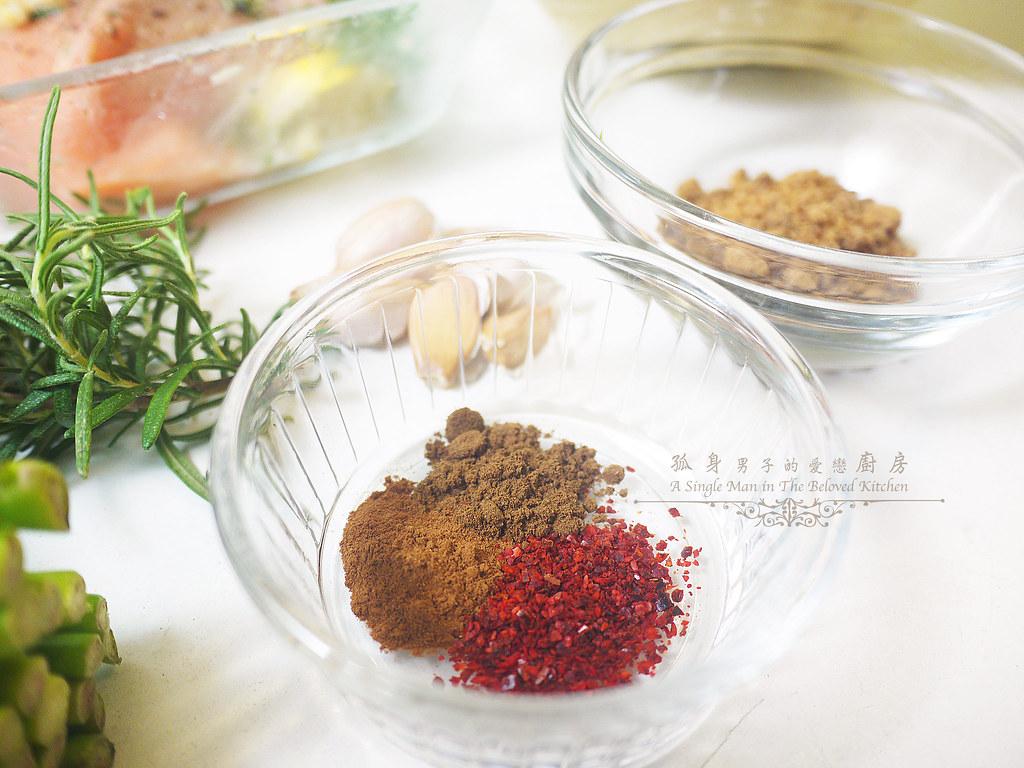 孤身廚房-烤鮭魚排佐香料烤南瓜及蒜香皇宮菜5