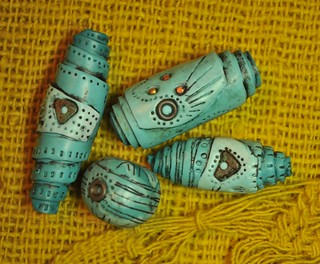Turquoise rolled beads | by Page's Creations
