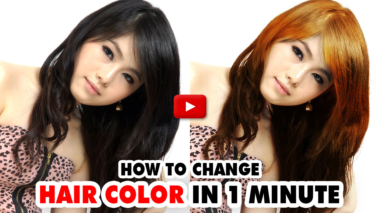 Change Hair Color - Photoshop Action