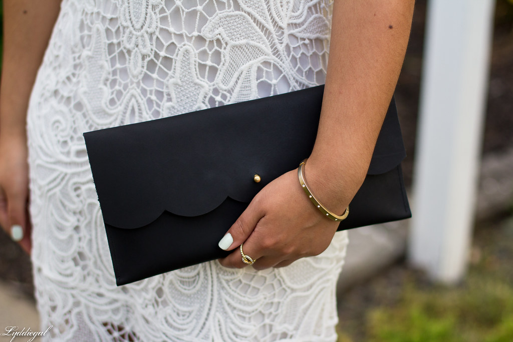 white lace dress, black scalloped clutch, strappy heels-7.jpg