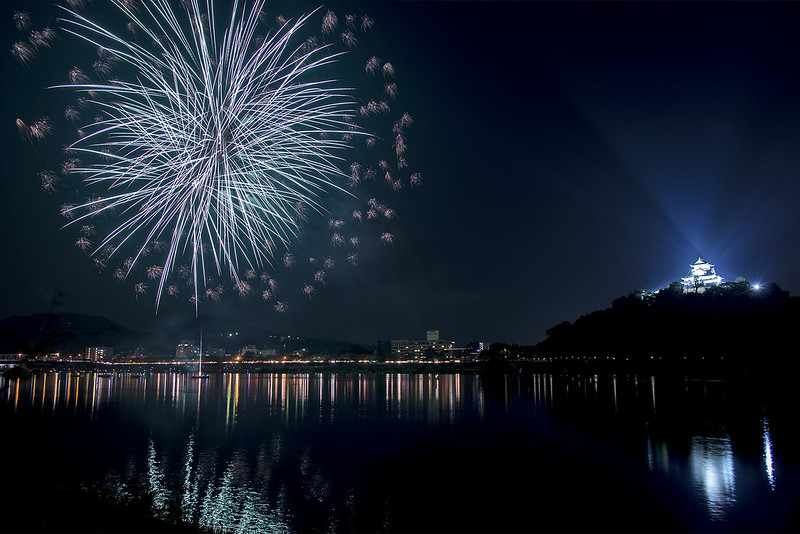Inuyama Castle Fireworks