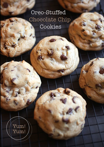 Picky Palate's Oreo-Stuffed Chocolate Chip Cookies | by Bakerella