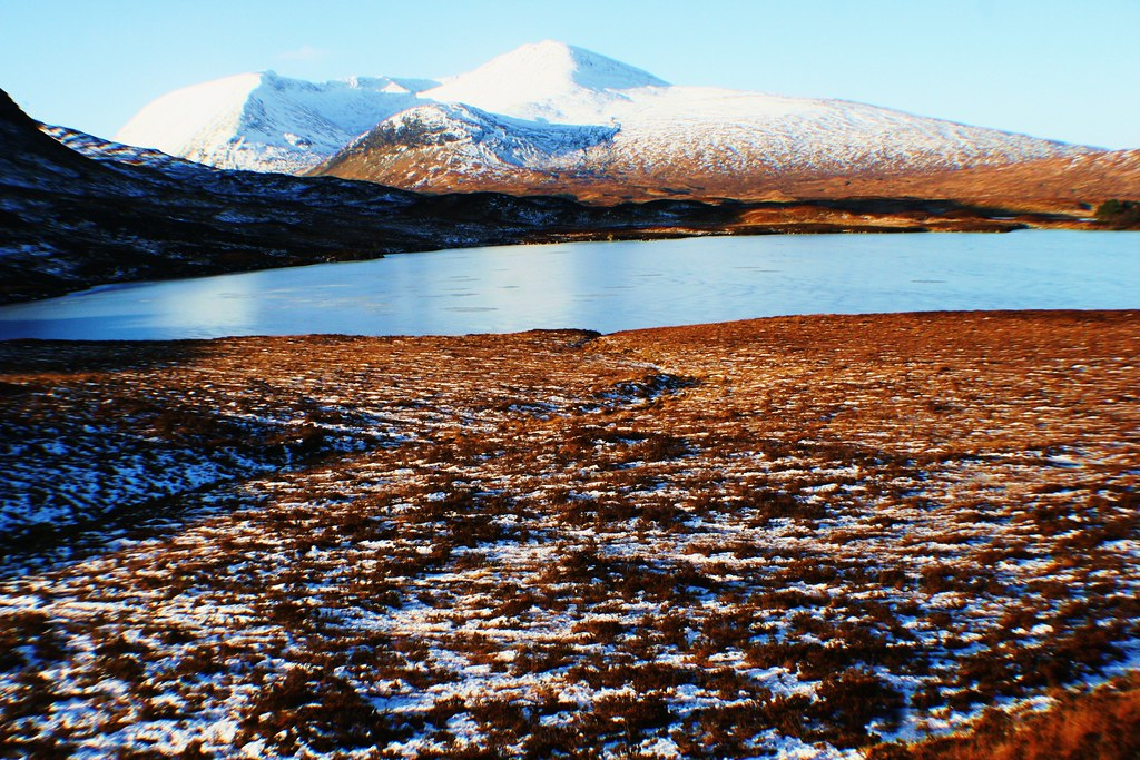 Rannoch Moor in winter.