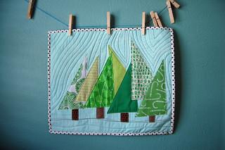 FO: Happy Trees Mini Quilt