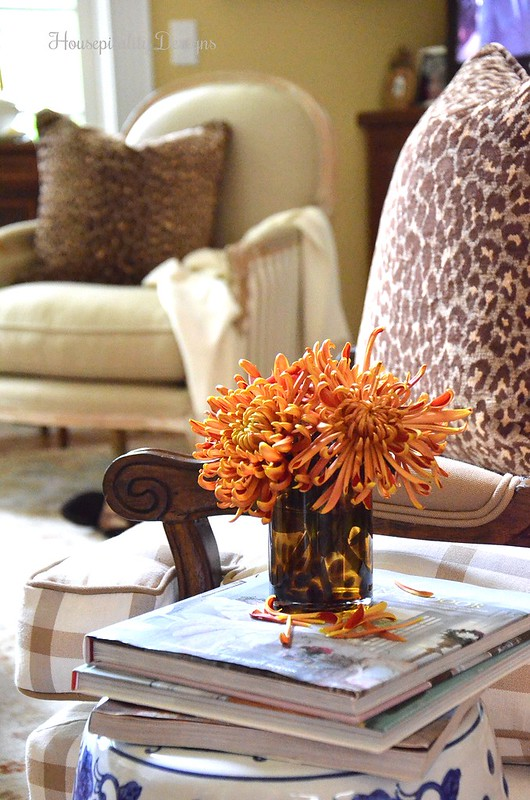 Fall Great Room - Helena Chair - Soft Surroundings Fall Blog Tour - Housepitality Designs