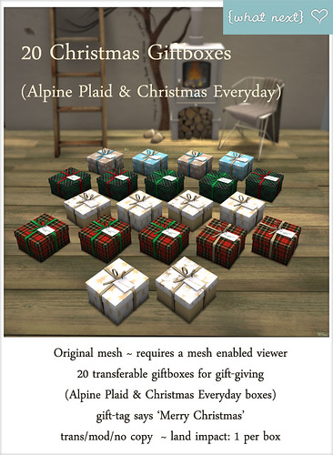 {what next} 20 Giftboxes - Alpine Plaid and Christmas Everyday Vendor | by What Next/Winter Thorn