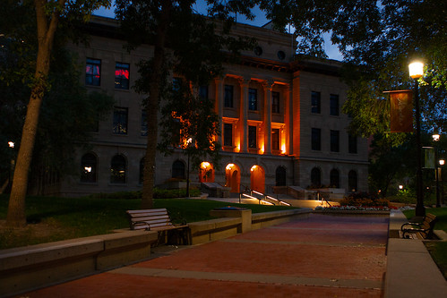 Calgary's McDougall School Just Before Sunrise