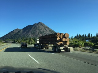 Log Truck at Black Butte CA August 2016