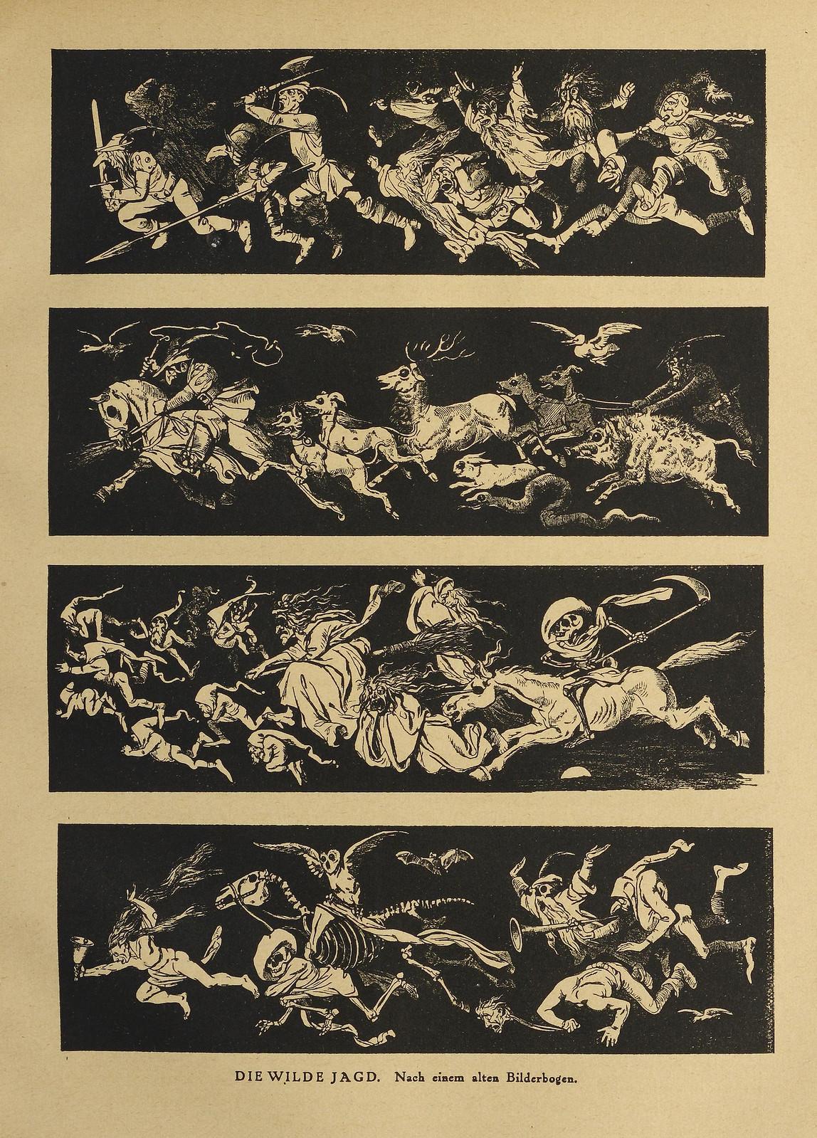Der Orchideengarten - 1920, Die Wilde Jagd - Nach einem alten Bilderbogen