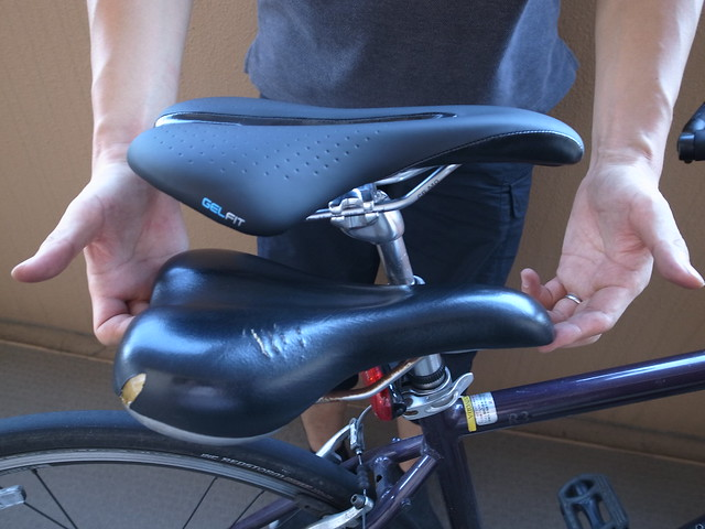 Replacing cycle saddle 2016