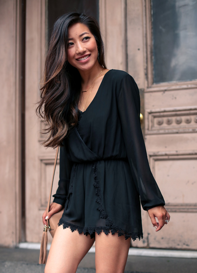 astr black lace romper nordstrom_extra petite fashion blog