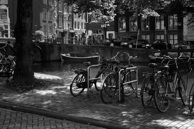 Bike at canal in Amsterdam 12