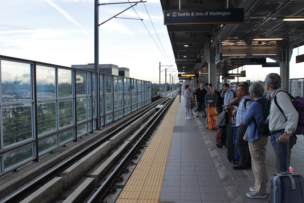 Waiting at SeaTac/Airport Station