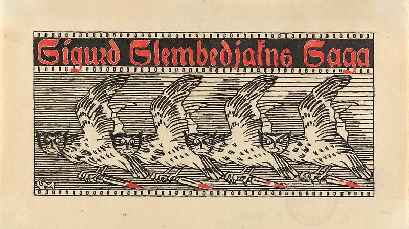 Gerhard Munthe - Til Snorre Sturlason, Kongesagaer, Kristiania, 1899